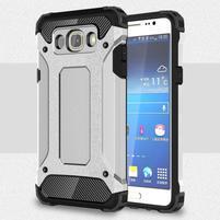 Armor 2v1 odolný obal na Samsung Galaxy J5 (2016) - stříbrný