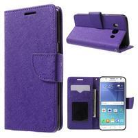 Routy PU kožené pouzdro na Samsung Galaxy J5 (2016) - fialové