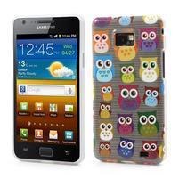Softy gélový obal pre mobil Samsung Galaxy S2 - transparentný sovičky