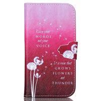 Emotive peňaženkové puzdro pre Samsung Galaxy S3 - púpavy