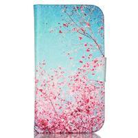 Emotive peňaženkové puzdro pre Samsung Galaxy S3 - kvitnúca slivka