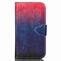 Emotive peňaženkové puzdro pre Samsung Galaxy S3 - meteory