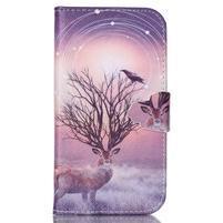 Emotive peňaženkové puzdro pre Samsung Galaxy S3 - mystický jelen