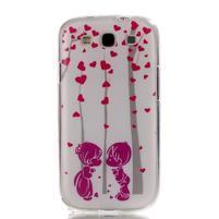 Gélový obal pre mobil Samsung Galaxy S3 - láska
