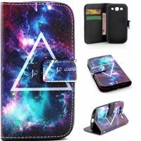 Knížkové puzdro pre mobil Samsung Galaxy S3 - triagl