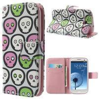 Funy puzdro pre mobil Samsung Galaxy S3 - lebky