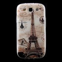 Ultratenký gélový obal pre mobil Samsung Galaxy S3 - Eiffelova veža