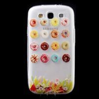 Ultratenký gélový obal pre mobil Samsung Galaxy S3 - donuts