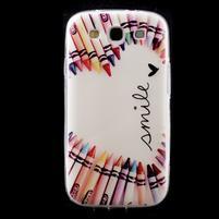 Ultratenký gélový obal pre mobil Samsung Galaxy S3 - smile