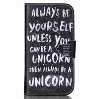 Emotive peňaženkové puzdro pre Samsung Galaxy S3 - unicorn