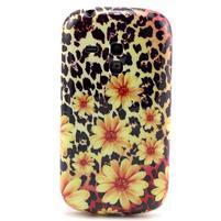 Gélový obal pre mobil Samsung Galaxy S3 mini - kvety