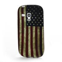 Emotive gélový obal pre Samsung Galaxy S3 mini - US vlajka