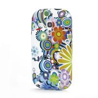 Emotive gélový obal pre Samsung Galaxy S3 mini - farebné kvety