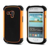 Outdoor odolný obal pre mobil Samsung Galaxy S3 mini - oranžový