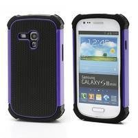 Outdoor odolný obal pre mobil Samsung Galaxy S3 mini - fialový