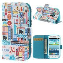 Knížkové puzdro pre mobil Samsung Galaxy S3 mini - New York