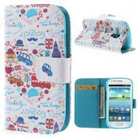 Knížkové puzdro pre mobil Samsung Galaxy S3 mini - Londýn