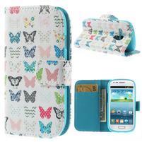 Knížkové pouzdro na mobil Samsung Galaxy S3 mini - motýlci