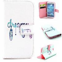 Standy peňaženkové puzdro pre Samsung Galaxy S4 - dream