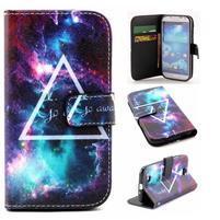 Standy peňaženkové puzdro pre Samsung Galaxy S4 - triangl