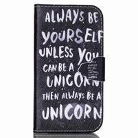 Emotive knížkové puzdro pre Samsung Galaxy S4 - unicorn