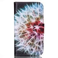 Emotive knížkové puzdro pre Samsung Galaxy S4 - barevená púpava