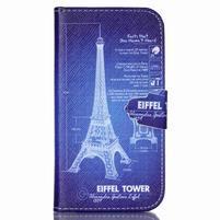 Emotive knížkové pouzdro na Samsung Galaxy S4 - Eiffelova věž