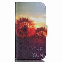 Emotive knížkové puzdro pre Samsung Galaxy S4 - východ slnka
