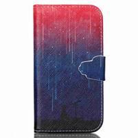 Emotive knížkové puzdro pre Samsung Galaxy S4 - meteory