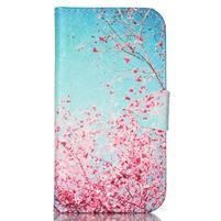 Emotive knížkové puzdro pre Samsung Galaxy S4 - kvitnúca slivka