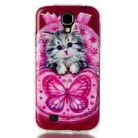 Softy gélový obal pre mobil Samsung Galaxy S4 - koťátko