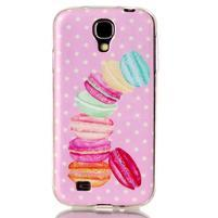Softy gélový obal pre mobil Samsung Galaxy S4 - makrónky