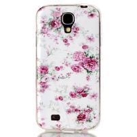 Softy gélový obal pre mobil Samsung Galaxy S4 - kvety