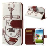 Elegant peňaženkové puzdro pre Samsung Galaxy S4 - New York