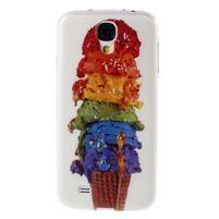 Ultratenký slim gélový obal pre Samsung Galaxy S4 - zmrzlina