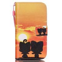 Knížkové koženkové puzdro pre Samsung Galaxy S4 - sunrise