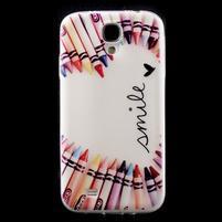 Slim gelový obal na mobil Samsung Galaxy S4 - smile