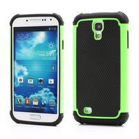 Outdoor odolný silikonový obal na Samsung Galaxy S4 - zelený