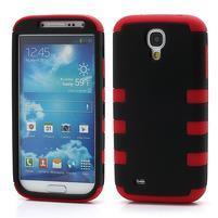 Extreme odolný gelový obal 2v1 na Samsung Galaxy S4 - červený