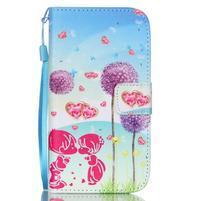 Knížkové koženkové puzdro pre Samsung Galaxy S4 - láska