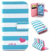 Standy peňaženkové puzdro pre Samsung Galaxy S4 - love