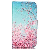 Emotive peňaženkové puzdro pre Samsung Galaxy S4 mini - kvitnúca slivka