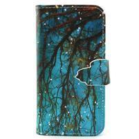 Diaryleather puzdro pre mobil Samsung Galaxy S4 mini - vetve stromu