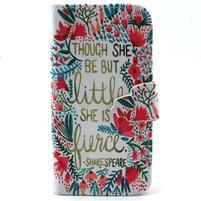 Diaryleather puzdro pre mobil Samsung Galaxy S4 mini - Shakespeare