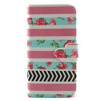 Diaryleather puzdro pre mobil Samsung Galaxy S4 mini - ruže