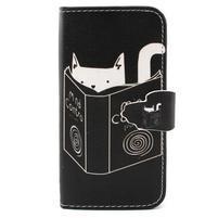 Diaryleather puzdro pre mobil Samsung Galaxy S4 mini - mačička čte