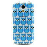 Transparentný gélový obal pre Samsung Galaxy S4 mini - modré sovičky