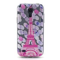 Transparentný gélový obal pre Samsung Galaxy S4 mini - Eiffelova veža