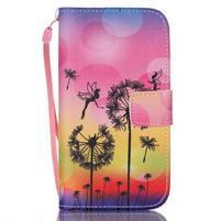 Diary peňaženkové puzdro pre mobil Samsung Galaxy S4 mini - púpavy