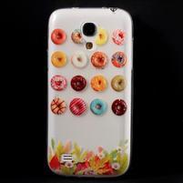 Gélový obal pre mobil Samsung Galaxy S4 mini - donuts